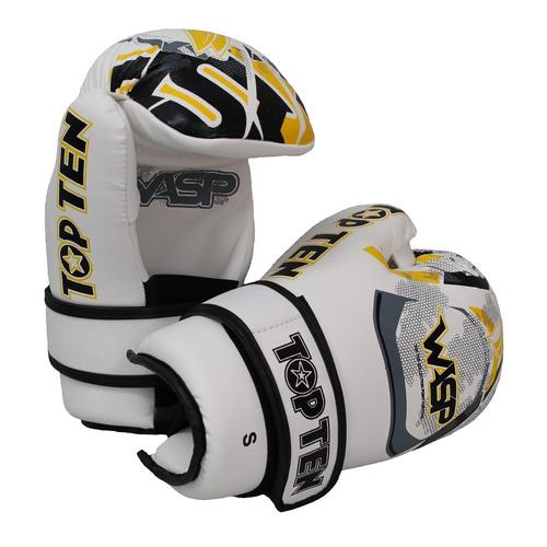 "TOP TEN Pointfighter Gloves ""Wasp"" White/Yellow (21663-12)"