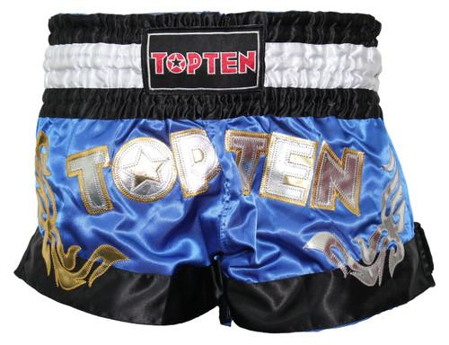 TOP TEN WAKO Kickboxing Shorts Blue (1862-6)