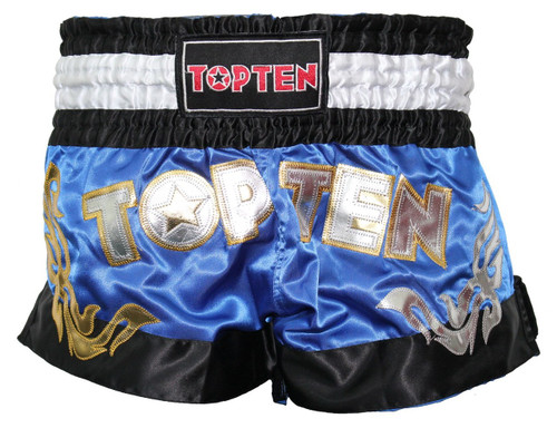 TOP TEN WAKO Kickboxing Shorts Blue (1862-6)