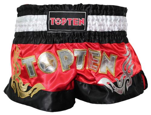 TOP TEN WAKO Kickboxing Shorts Red (1862-4)