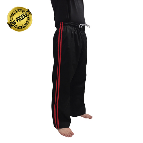Kicksport Contact Pants Black 2 Red Stripes - Child