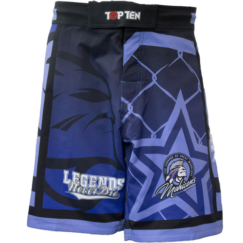 "TOP TEN MMA Shorts ""Mohicans"" Front"