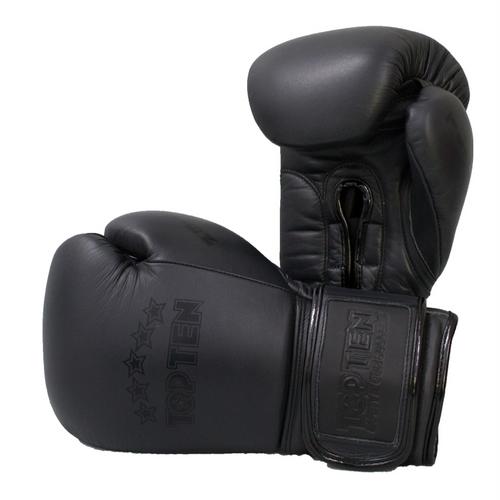 TOP TEN Boxing Gloves 'Black N Black'