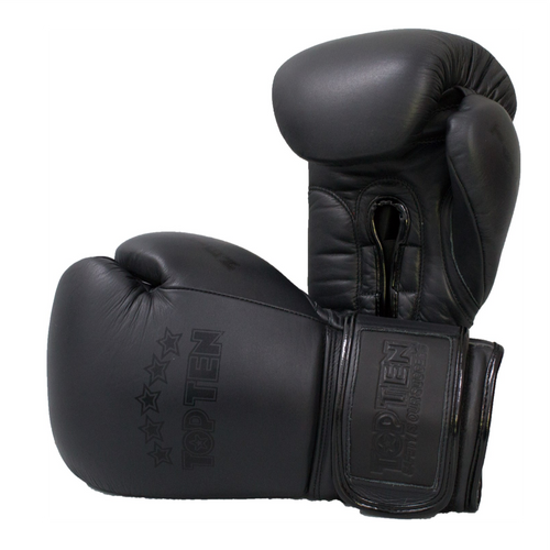 TOP TEN Boxing Gloves 'Black N Black'