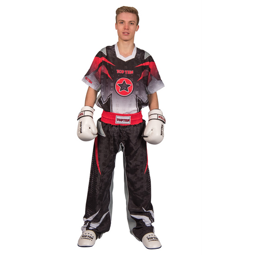 "TOP TEN Kickboxing Uniform ""FUTURE"" - Black/White CHILD"