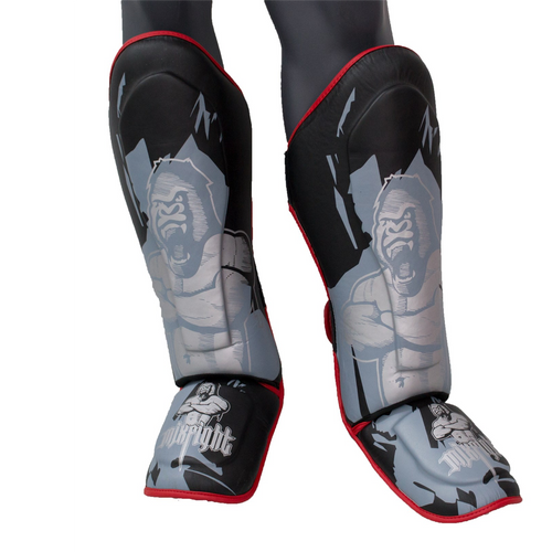 "TOP TEN Shin Guard Thaiboxing, K1, MMA ""MIXFIGHT Gorilla"""