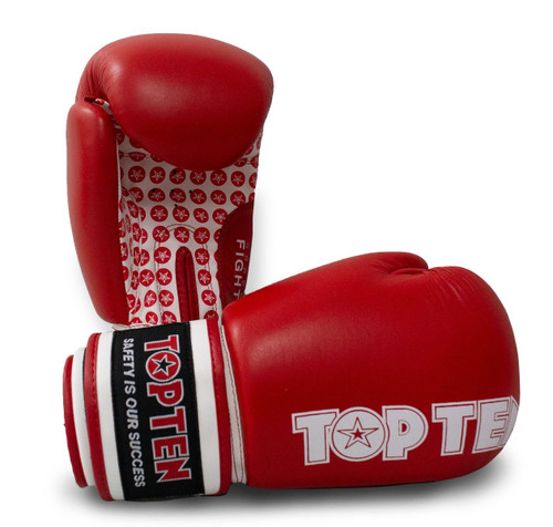 TOP TEN Boxing Gloves FIGHT RED 10oz