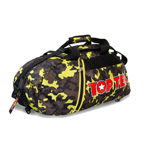 TOP TEN Sports Backpack Combo CAMO/YELLOW Large (8002-5205)