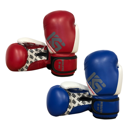 Kicksport Boxing Gloves Kids - 6oz Blue & Red