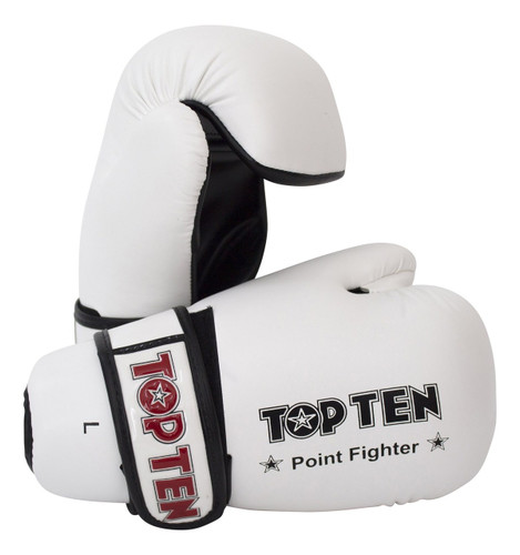 TOP TEN Pointfighter Gloves White