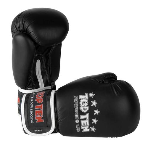 TOP TEN Superfight 3000 Boxing Gloves Black 8oz/10oz