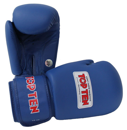 "TOP TEN ""AIBA"" Boxing Gloves Blue 10/12oz (2010-6)"