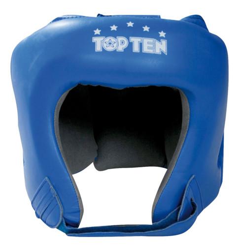 """TOP TEN """"A.I.B.A."""" Boxing Head Guard - with label - Blue (4069-6)"""