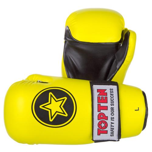 """TOP TEN Pointfighter Gloves """"Neon Yellow"""" Star"""