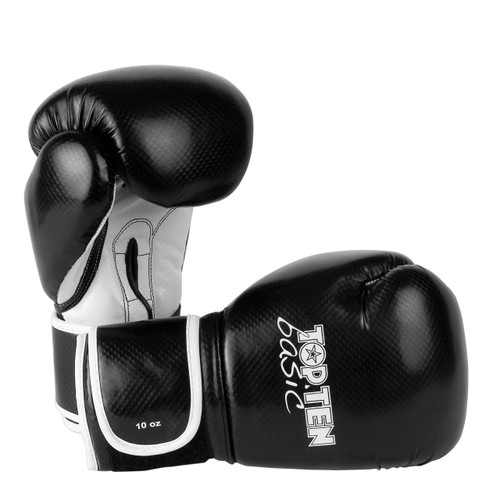 TOP TEN Basic Gloves Black 10oz Training Gloves (2264)