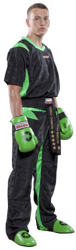 """PQ Mesh Uniform """"Neon Ltd"""" Black/Green Children (1682-95C)"""