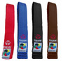 Black, Brown, Blue and Red satin belts