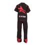 "TOP TEN Kickboxing Uniform ""FUTURE"" - Black/Red CHILD (16811-94)"