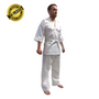 "V-NECK Kickboxing Uniform ""3/4 Sleeve"" White - CHILD 100cm/110cm (KSVNUK-W)"