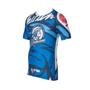 "TOP TEN Rash Guard ""Mohicans"" Short Sleeve Blue"