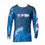 "TOP TEN Rash Guard ""Mohicans"" Long Sleeve Blue (14143-6)"