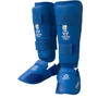 Hayashi 'Kumite' Karate Shin/Instep Guard Training Set Blue / Red (342-46)