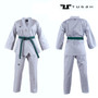Tusah White Collar WTF Approved Uniform - Size 110cm (TTPWH)