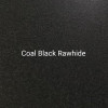 Coal Black Rawhide - A dark black textured finish by Bridger Steel for exterior or interior projects.