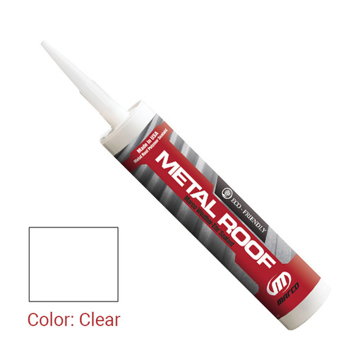 Sealant Color: Clear - Weather-Tite Metal Roof Sealant comes in a variety of colors and goes on easily. If touch-ups are necessary, it may be painted (excluding translucent) with a water-based paint anytime after one hour of application