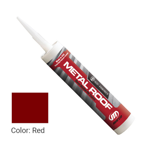 Sealant Color: Red - Weather-Tite Metal Roof Sealant comes in a variety of colors and goes on easily. If touch-ups are necessary, it may be painted (excluding translucent) with a water-based paint anytime after one hour of application.
