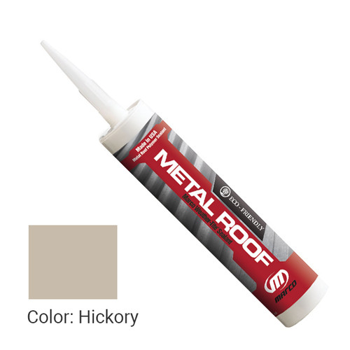 Sealant Color: Hickory - Weather-Tite Metal Roof Sealant comes in a variety of colors and goes on easily. If touch-ups are necessary, it may be painted (excluding translucent) with a water-based paint anytime after one hour of application.
