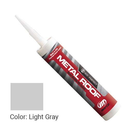 Sealant Color: Light Gray - Weather-Tite Metal Roof Sealant comes in a variety of colors and goes on easily. If touch-ups are necessary, it may be painted (excluding translucent) with a water-based paint anytime after one hour of application.