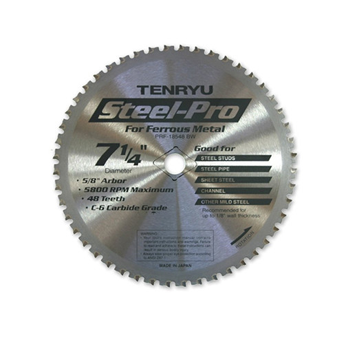 "Tenryu STEEL-PRO 7-1/4"" Steel Cutting Saw Blade"