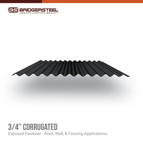 "Available in a variety of colors and finishes, the 3/4"" Corrugated gives you true versatility for your next project."