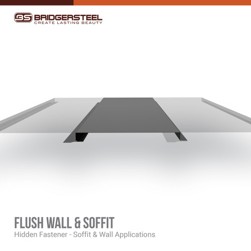 Available in a variety of colors, rustic prints, and specialty finishes, the Flush Soffit Panel gives you true versatility for your next project.