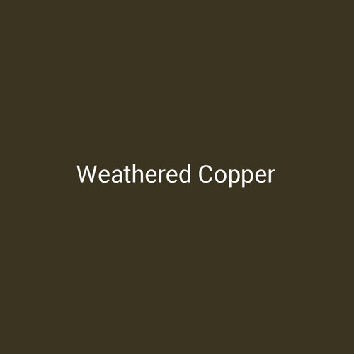 Weathered Copper - A deep copper finish by Bridger Steel for exterior and interior projects.