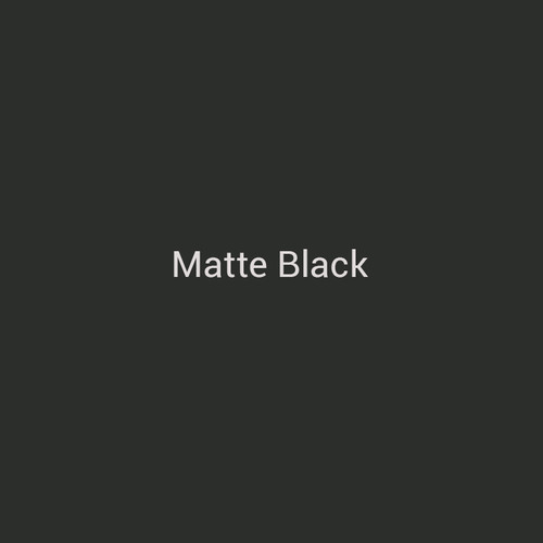 Matte Black - A black finish with no shine by Bridger Steel for exterior and interior projects