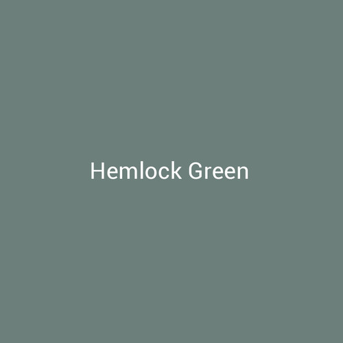 Hemlock Green - A green finish with gray undertones by Bridger Steel for interior and exterior applications.