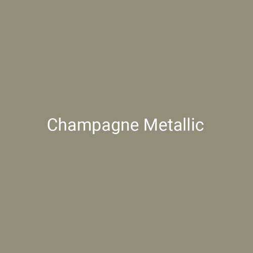 Champagne Metallic - A metallic, gold finish by Bridger Steel for interior and exterior applications.