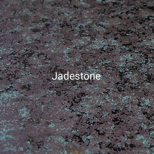 Jadestone - A specialty print by Bridger steel with black, gray, and green colors to emulate a mossy appearance.