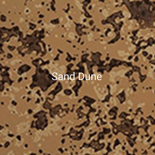 Sand Dune - A specialty print with a tan finish and dark brown and black accents.