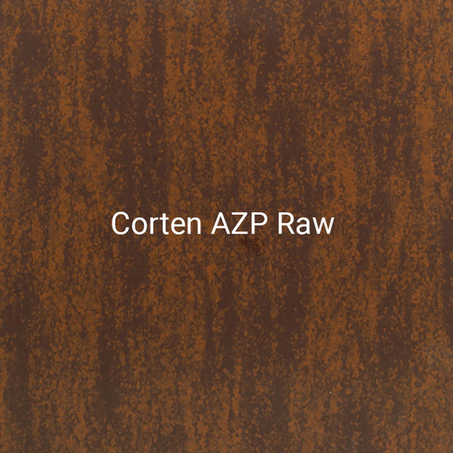 Corten AZP Raw - A specialty print by Bridger Steel designed to recreate the natural aging process of steel.