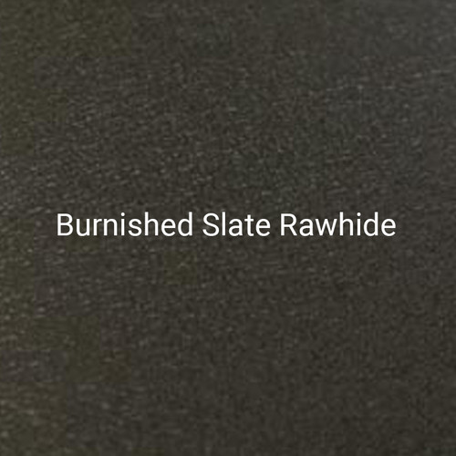 Burnished Slate Rawhide – A dark gray, textured finish by Bridger Steel for exterior or interior projects.
