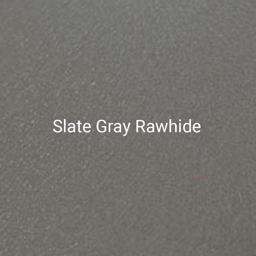Slate Gray Rawhide – A light gray, textured finish by Bridger Steel for exterior or interior projects.