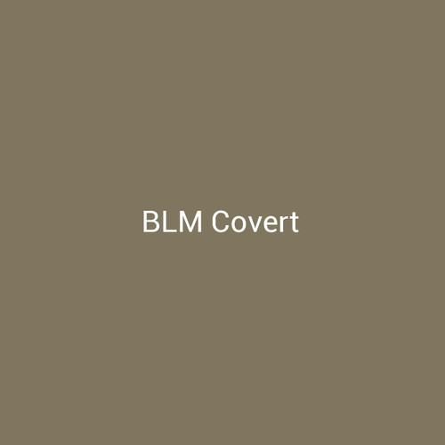 BLM Covert – A natural finish with brown and green tones by Bridger Steel used to blend into landscapes.