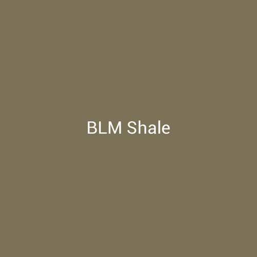 BLM Shale - A natural finish with brown and green tones by Bridger Steel used to blend into landscapes.