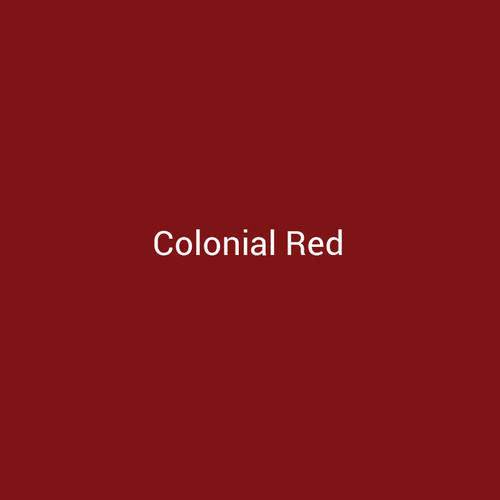 Colonial Red – A red metal finish by Bridger Steel for interior and exterior applications.