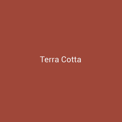 Terra Cotta - A combination of orange and brown colors to create a metal finish by Bridger Steel that resembles fired clay for interior and exterior applications.