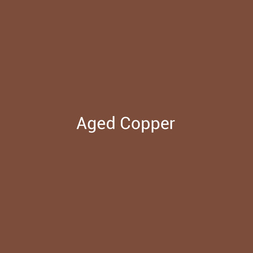 Aged Copper - A metallic finish designed to replicate aged copper by Bridger Steel for exterior and interior projects.