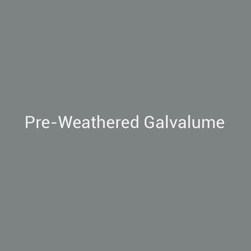 Preweathered Galvalume - A painted finish that recreates the look of weathered Galvalume by Bridger Steel.